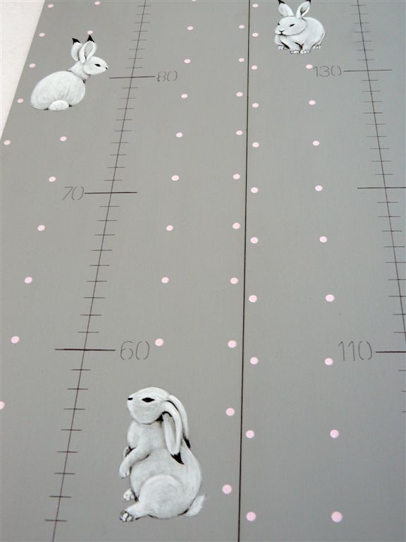 Growth chart with bunnies